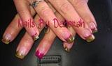 Pink & Camo acrylic nails