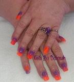 Purple & orange.