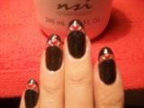 Simple valentines nail art