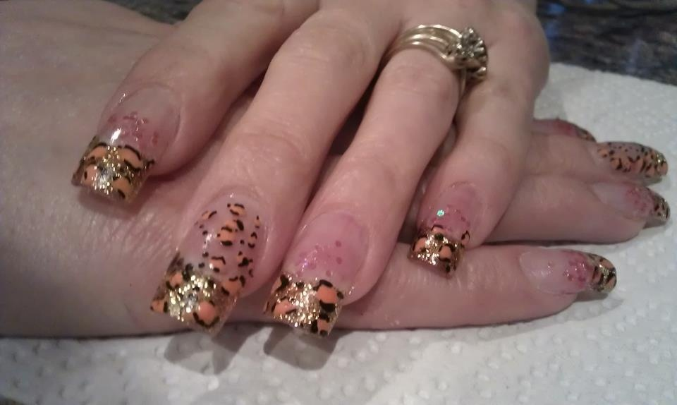 Glitter acrylic nails - Nail Art Gallery