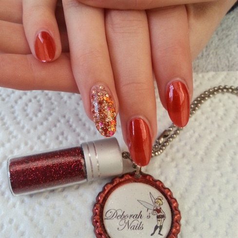 Autumn glitter nails - Nail Art Gallery