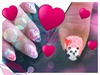 kawaii Valentine's gel nails