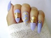 Purple Nails With Gold Foil