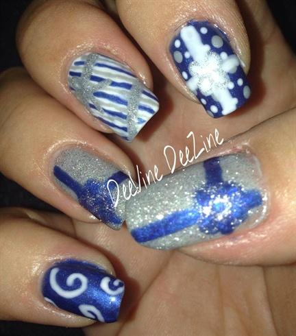 Christmas Present Nail Art Nail Art Gallery