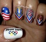 Winter Olympic Nail Art