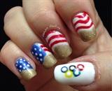 Patriotic Olympic Nails