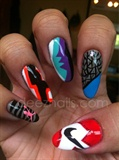 air jordan inspired nails