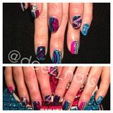 Ankara-inspired nails