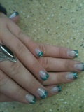 Turquoise Glitter Tips
