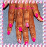 Hot Pink Manicure