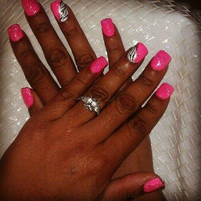Pink, Glitter and Zebra