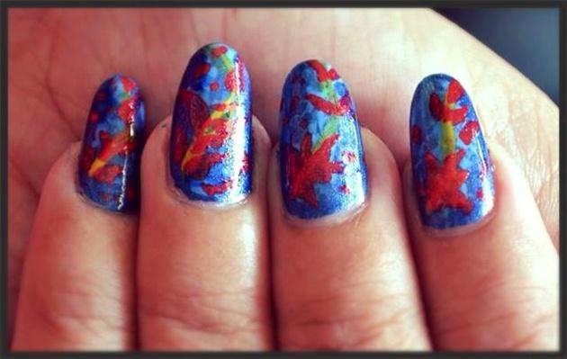 Abstract Autumn Fall nails