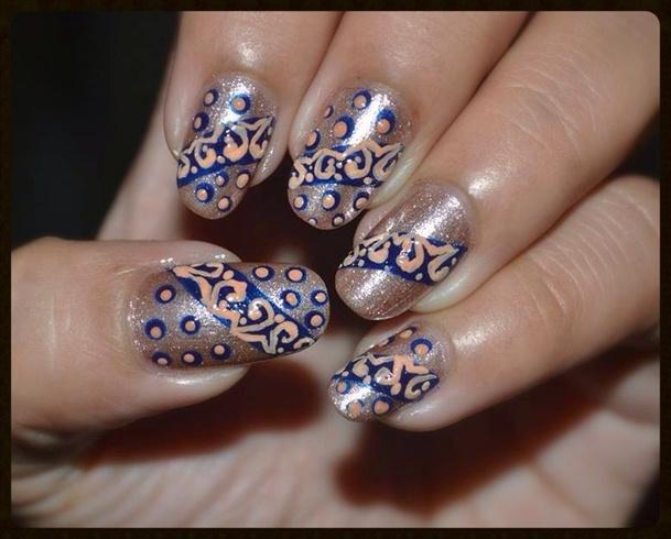 Swan Lace and Polka Dots