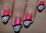 Pink Black Nail Designs