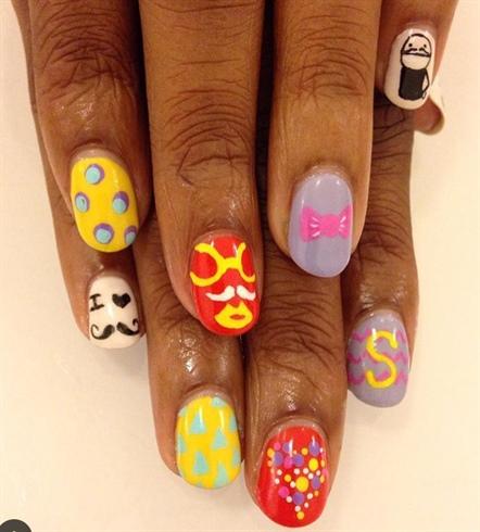 Hipster Nail Art