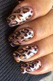 Leopard Print On Champagne Colored Base