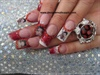 Betty Boop Glitter Acrylic Nails
