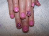 Pink & Black Gel Polish