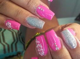 nail art: Fushia dream
