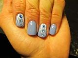 Blue & White Tendrils
