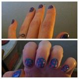 Blue w/Pink Polka Dots