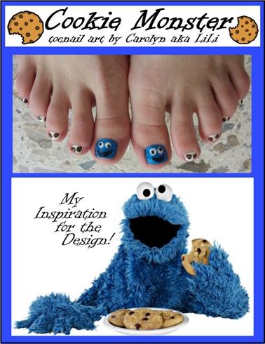 Cookie Monster toenails