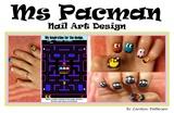 Ms. Pacman nail art