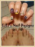 Summer design with zebra print & flowers