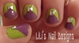 purple w/lime green & studs