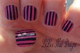 pink 'n black pinstripes