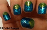 blue n green glitter