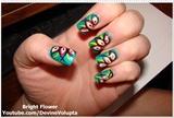 Bright Flower Nail Art