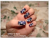 Glitter And Stars Nail Art