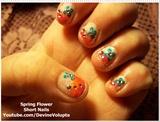 Spring Flower Nail Art