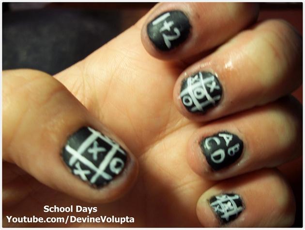 School Days Nail Art