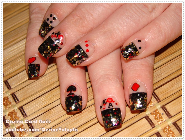 Casino Cards Nail Art Nail Art Gallery