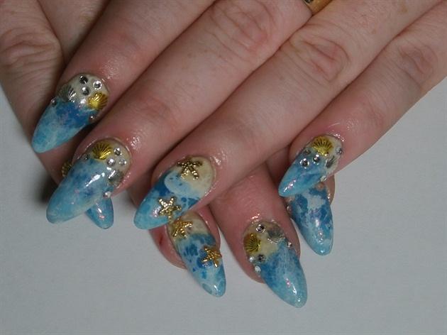 3D Beach Nails