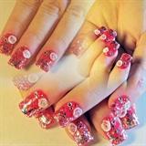 3D Rose Nail Design