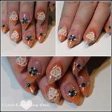 3D Orange Flower