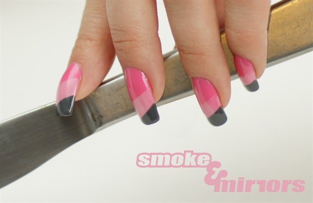 Pink and Gray color blocks