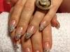 Almond Glitter Nail