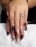 Purple Metalic Matte Nude Handprint
