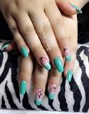 Mint Green Cherry Bloom