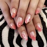 Acrylic Glitter Coral