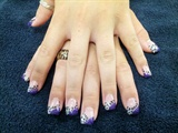 Purple glitter leopard