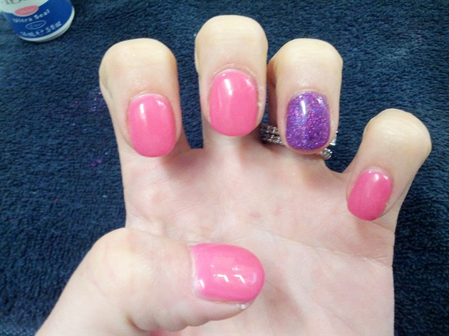 My own nails in pink!