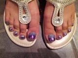 Silver and Purple Fade