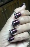 Glitter stripe tip