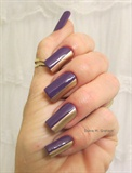 Purple/gold sideways french