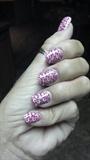 Pink stamped